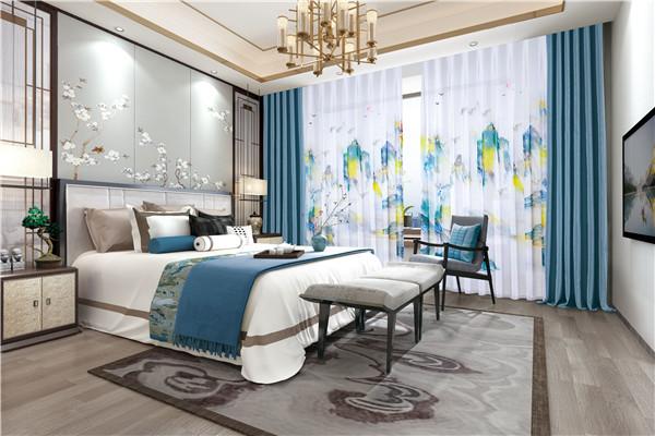 中式風格臥室窗簾用什么紗好看